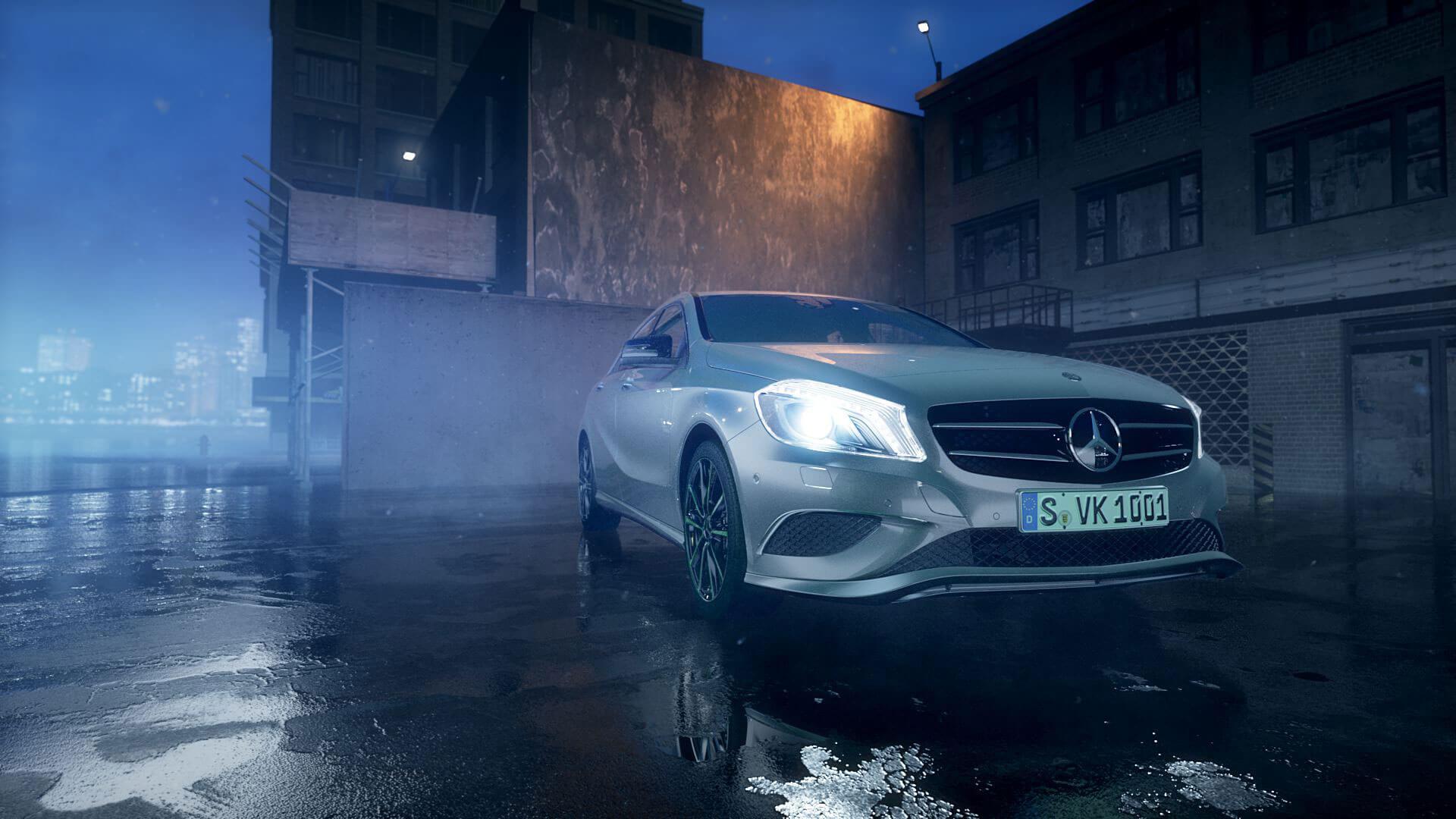 Der von uns produzierte Webclip stellt die moderne Telematik und das sichere Trägersystem von Mercedes Benz dar.