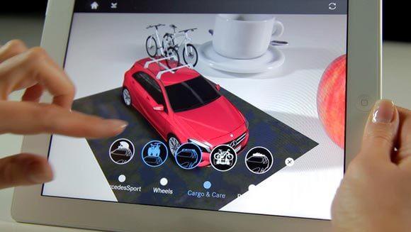 Augmented Reality 3D App für die A-Klasse