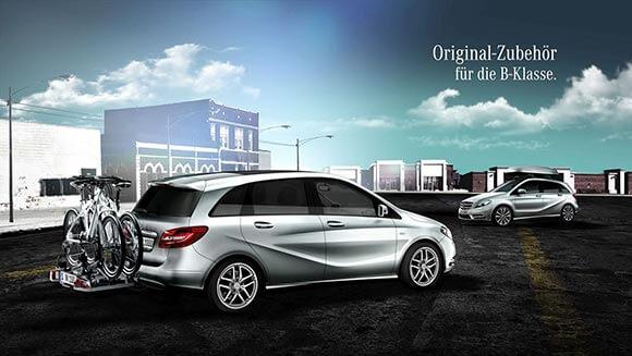 Durch den Motion Design Produktfilm wird das Zubehör von Mercedes Benz perfekt in Szene gesetzt.