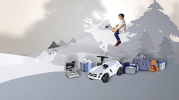 Der Motion Design Clip für Mercedes-Benz Accessories stellt die verschiedenen Produkte in den Mittelpunkt.