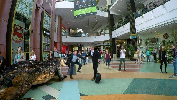 3rockAR hat in einem Einkaufszentrum einen Augmented Reality Magic Mirror aufgestellt.