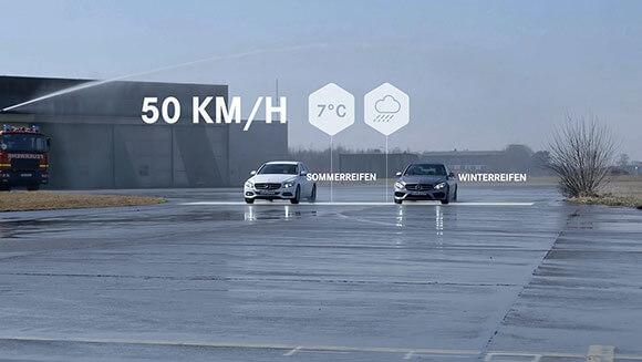 Wir produzieren Produktfilme für Original Mercedes-Benz Winterkompletträder und -reifen.