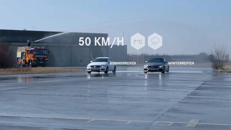 Wir erstellen Filme im Product Motion Design für die Winterkomnpletträder von Mercedes Benz.