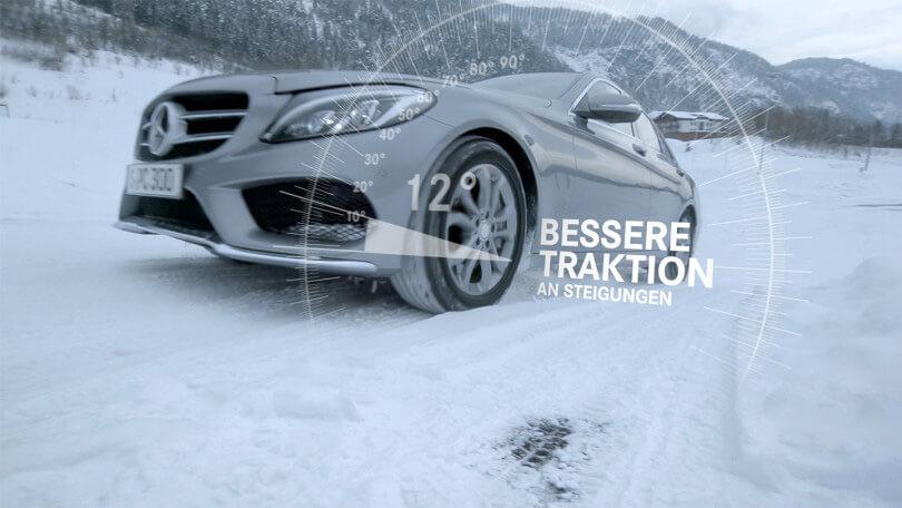 Polychrom produzierte einen Produktfilm für die Mercedes Benz Reifen.