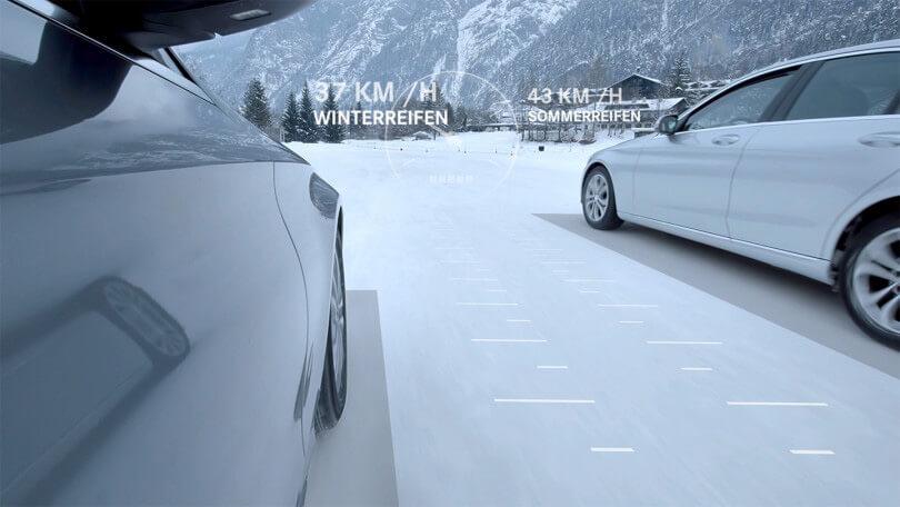 Die Vorteile der Winterkompletträder von Mercedes Benz werden in dem Produktfilm präsentiert.
