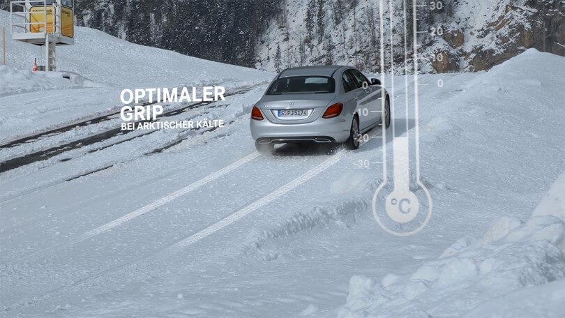 Die Vorteile der Original Mercedes Benz Winterkompletträder und -reifen werden in einem Produktfilm vorgestellt.