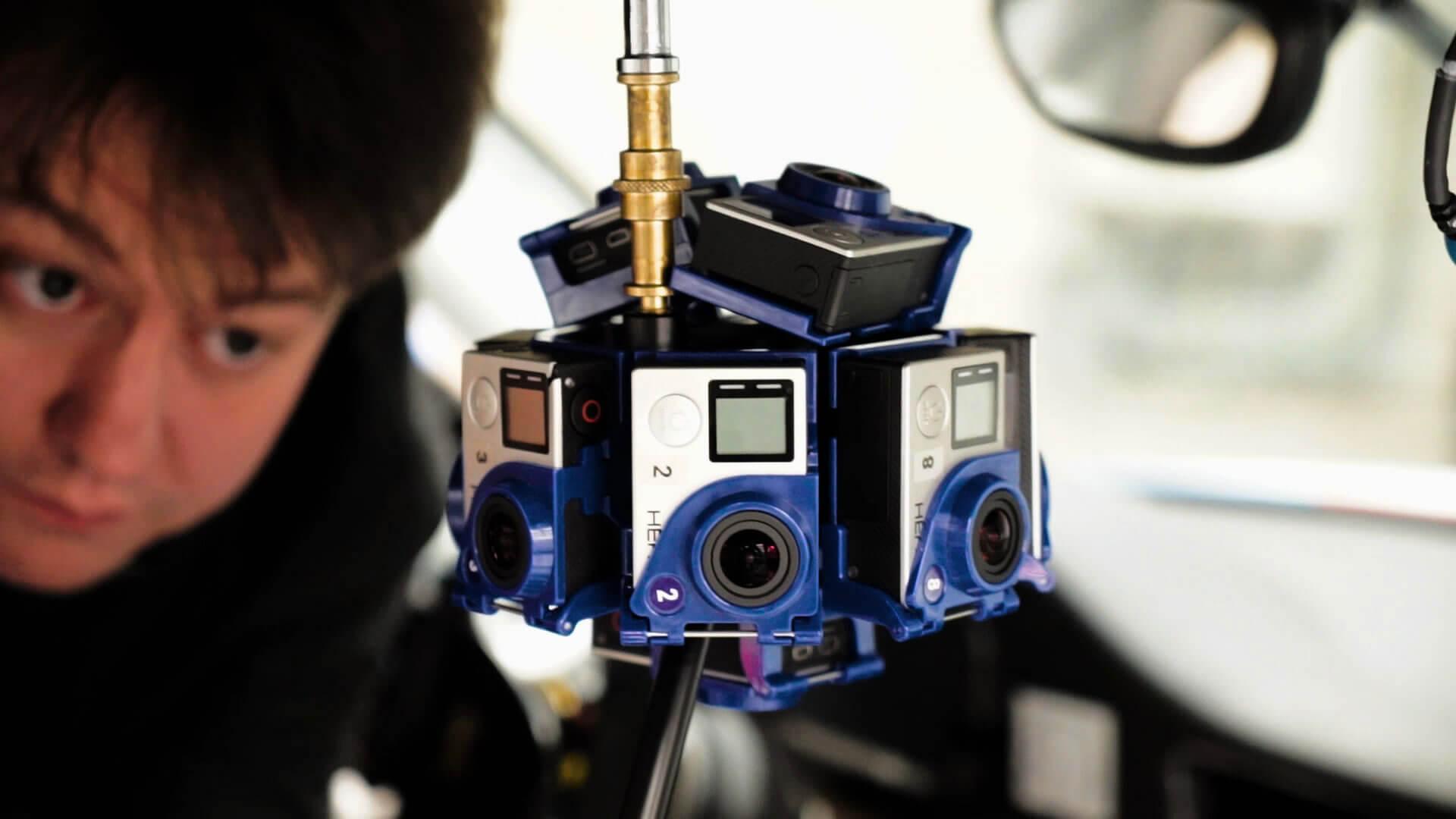 Die Vorbereitungen für den Hahn 360° Experience Virtual Reality Film.