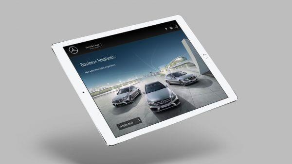 Firmenkunden von Mercedes Benz können sich in der Mobile App über verschiedene Angebote informieren.