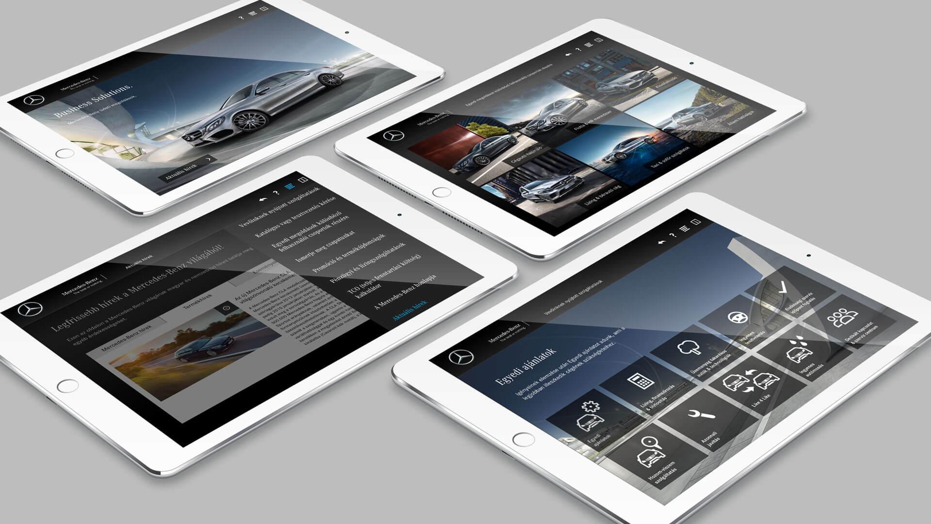 Mercedes benz hat eine Fleet Sales App fürs iPad entwickeln lassen, damit sich Firmenkunden individuell informieren können.