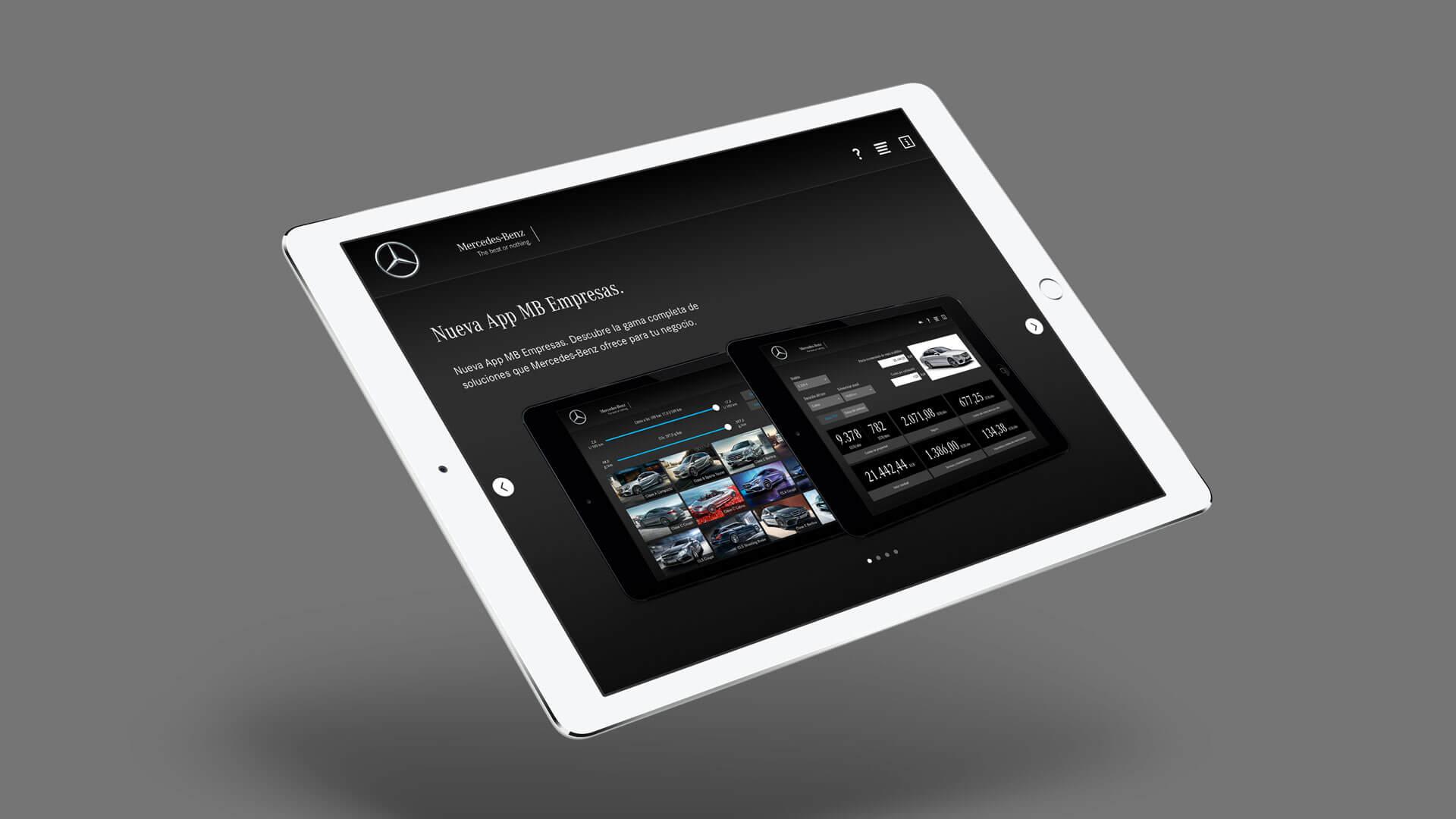 Die Fleet Solutions App wurde als Marketinginstrument von Mercedes Benz fürs iPad von uns entwickelt.