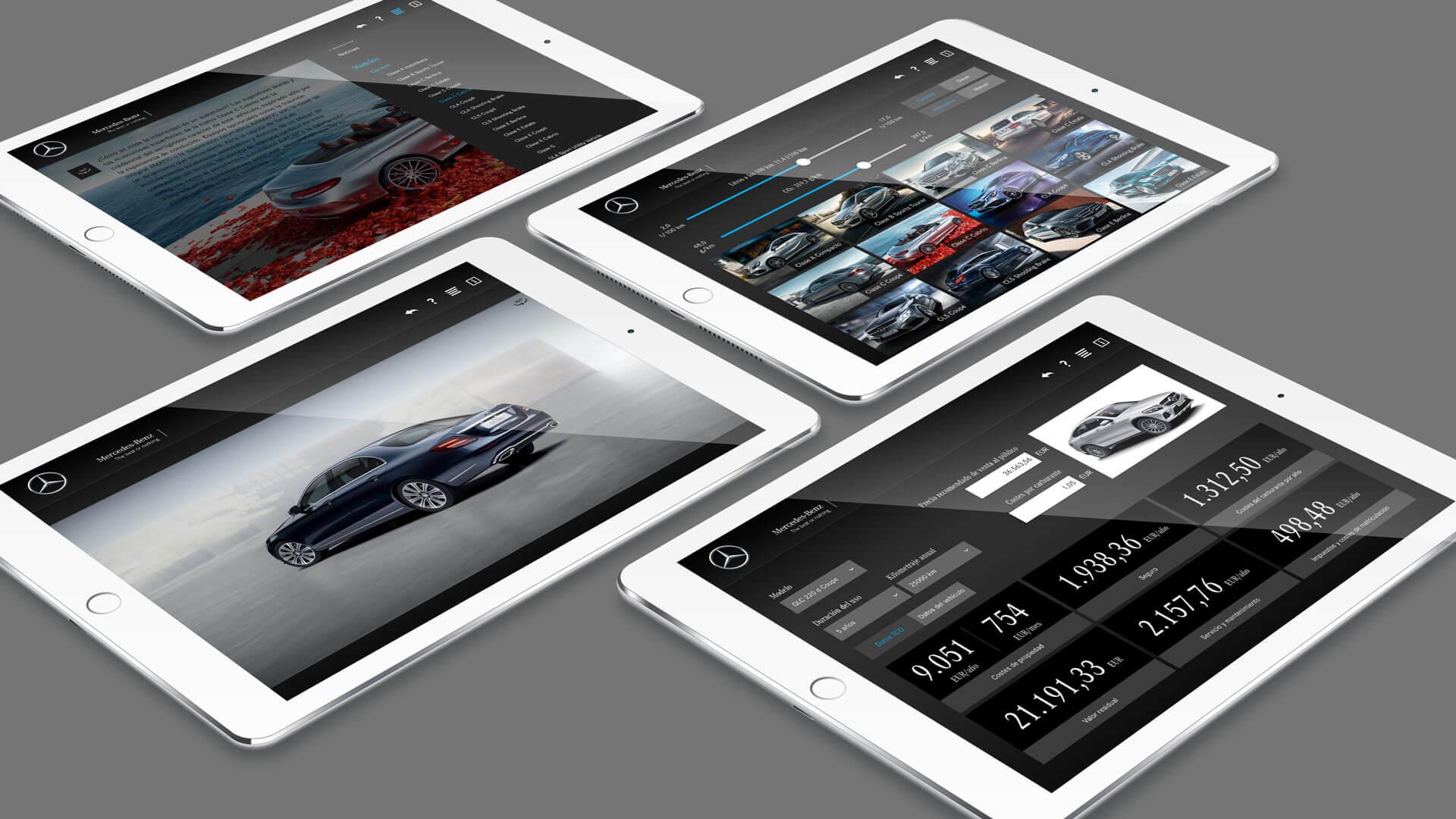 Alle Angebote von Mercedes Benz können über die Mobile Sales App bezogen werden.