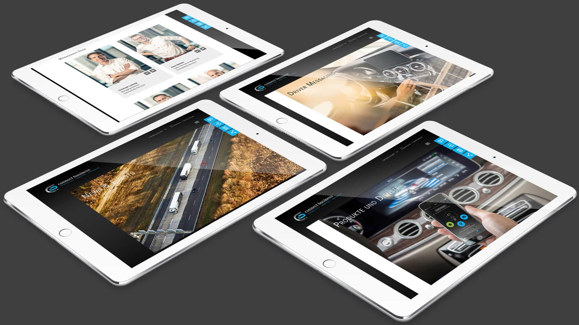 Wir haben für das digitale Konnektivitäts-Start-Up der Daimler AG eine Responsive Design Web-Plattform entwickelt.