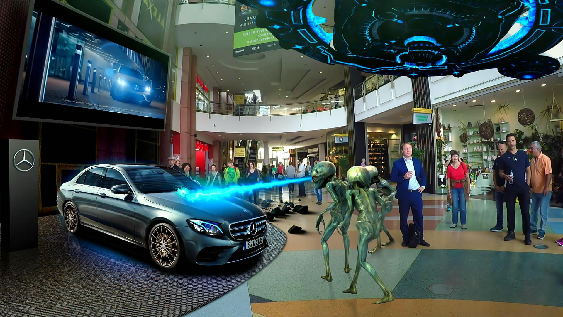 Durch Augmented Reality können Sie die reale Umgebung mit Ihre Marke oder Produkt verbinden.
