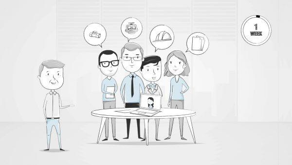 Wie Bosch können auch Sie Animationsvideos erstellen lassen, die zu Schulungszwecken genutzt werden können.
